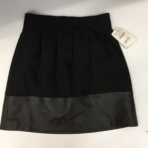 Zara basic black shirt skirt